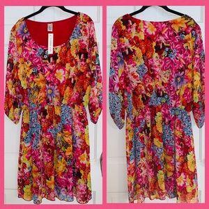 NWT Espresso Floral Dress.  Size 3X